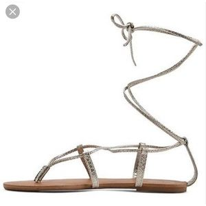 Mossimo Supply Co. Shoes - Mossimo supply Metallic gladiator wrap sandals